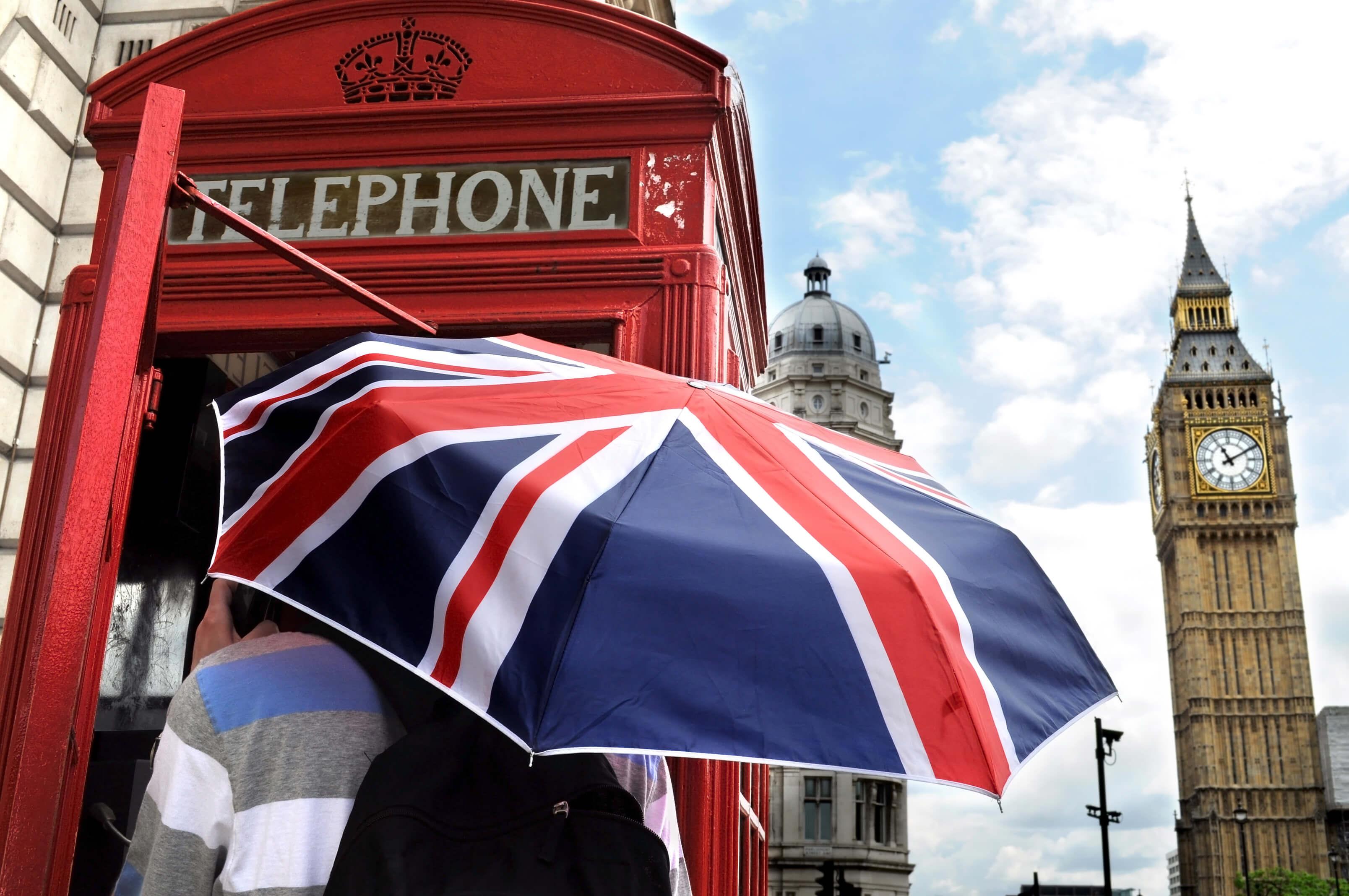 Guarda-chuva em Londres