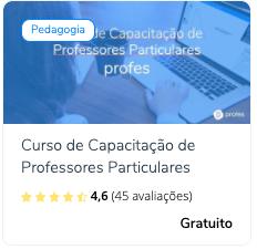 Curso de Capacitação de professores Profes